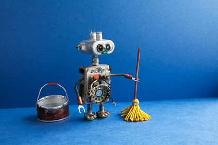 mopping robot with bucket