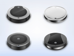 picture of 4 robot vacuums