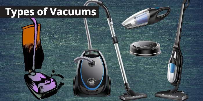 5 different vacuum cleaners