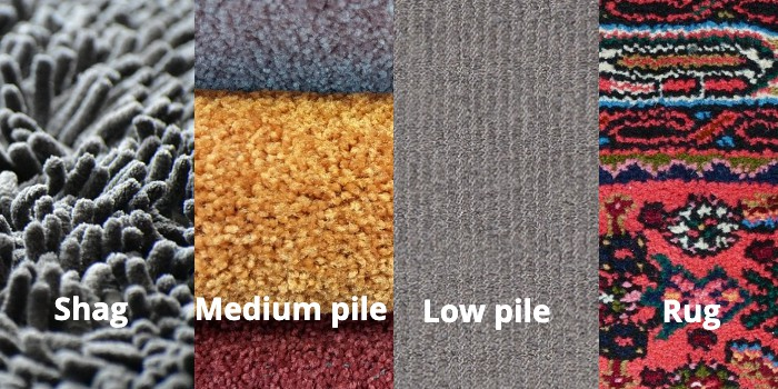 4 carpet types